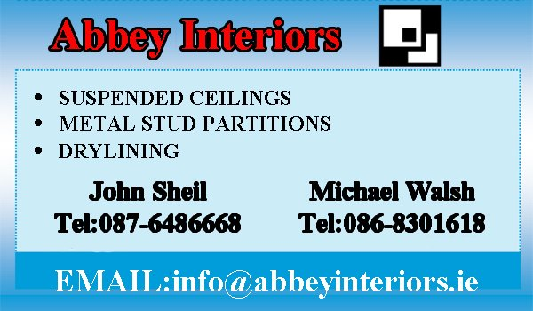 abbey interiors business card